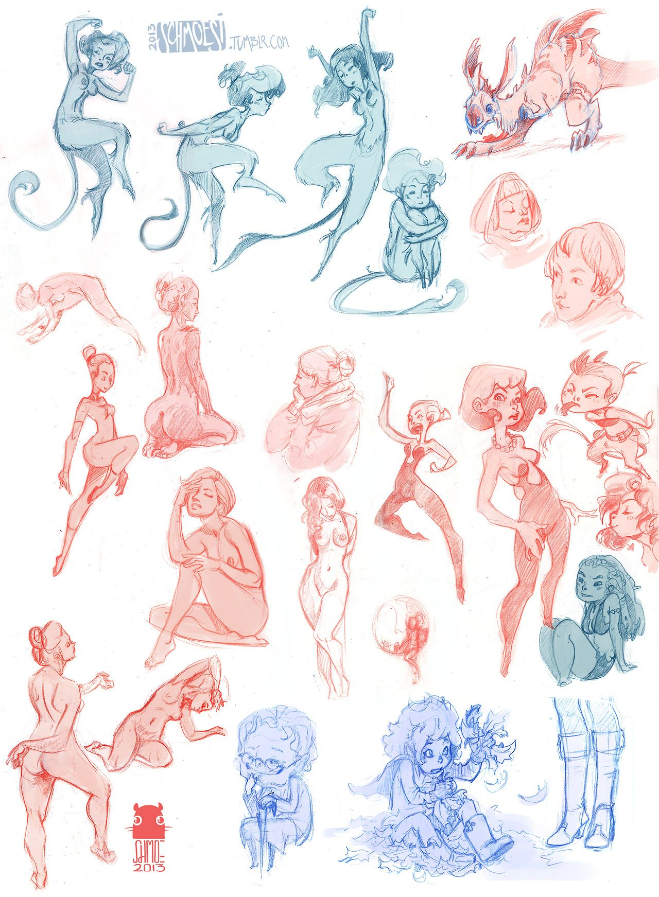 Sketches my favs are the faun ladies 3