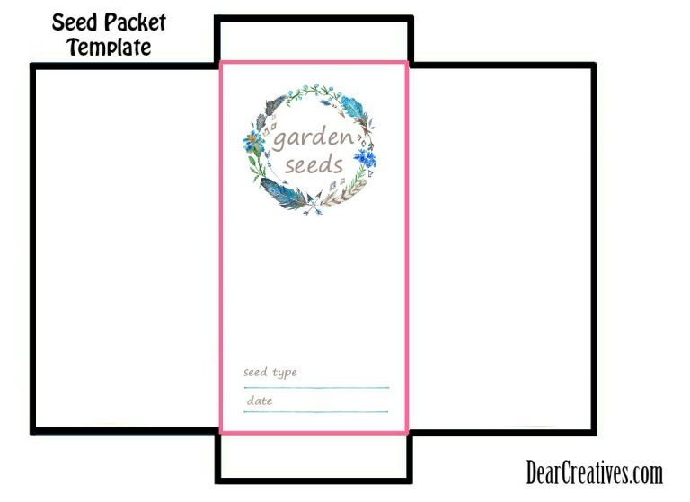 Seed Packet Template Free Printable And Diy For Your
