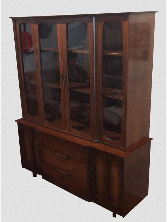 Mid Century Modern China Cabinet By Stanley By TouchGOODS On Etsy