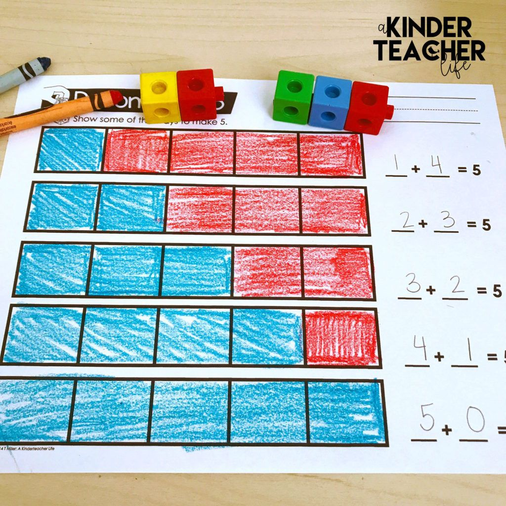 Decomposing Numbers Math Center Games | Activities, Students and Math