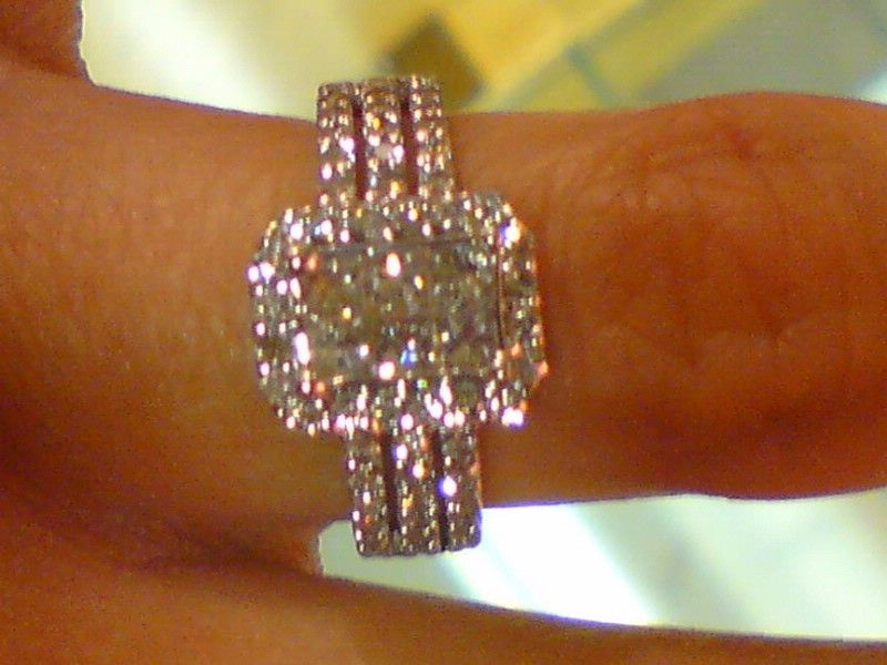 beautiful and i love the 3 bands that represent god husband u0026 wife i want 2 bands with diamonds all the way around on both sides of my engagement