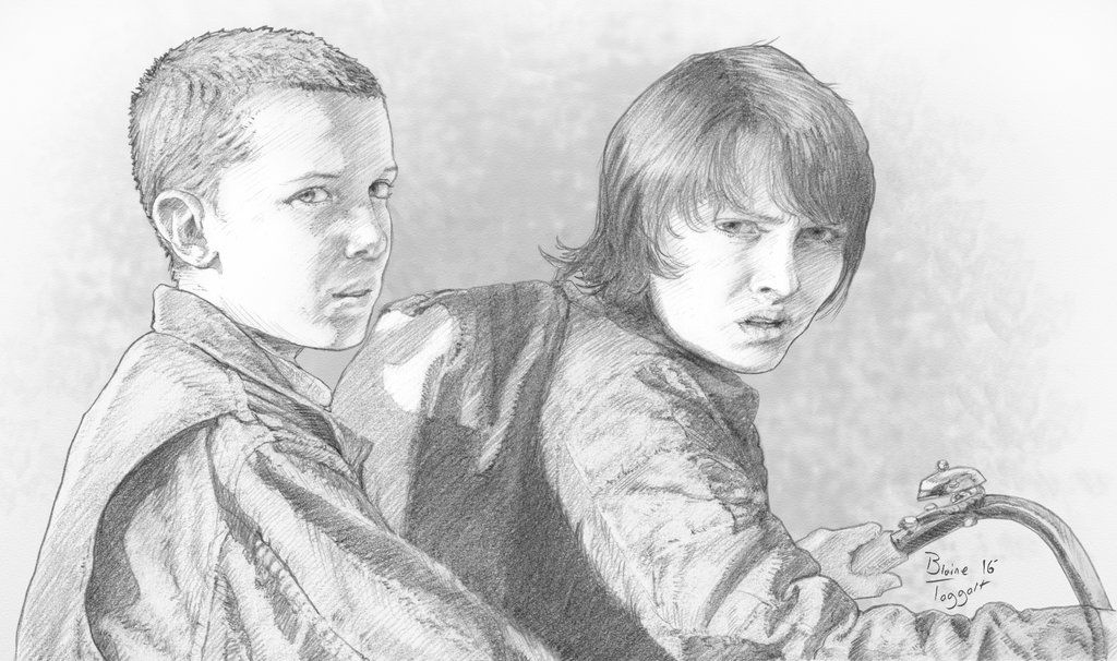 Stranger Things Eleven And Mike By Staino Stranger Things