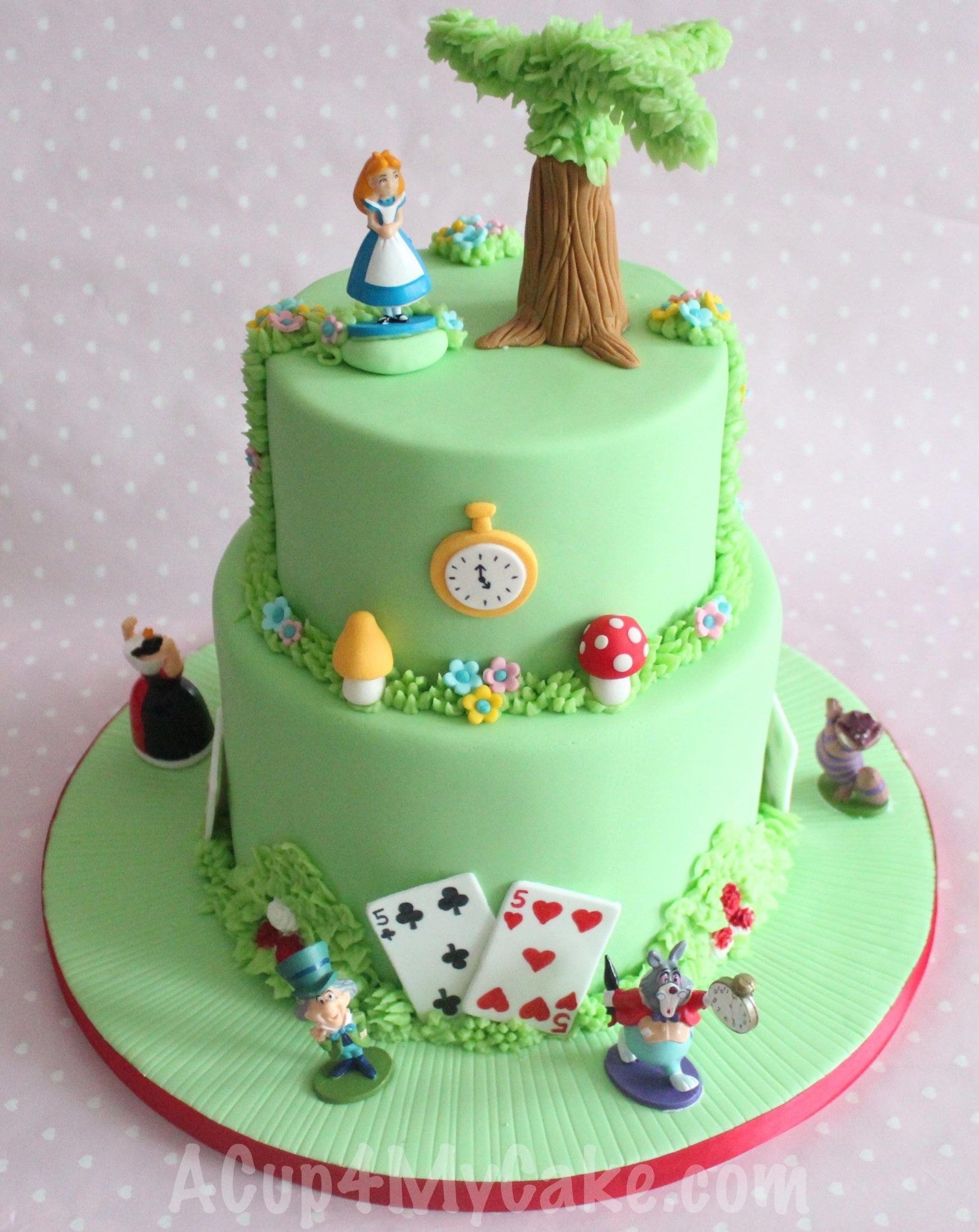 25 Marvelous Picture Of Alice In Wonderland Birthday Cake Cool