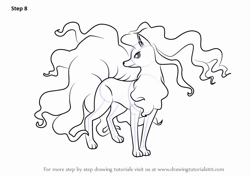 Alolan Vulpix Coloring Page Luxury Learn How To Draw A A Ninetales From Pokemon Sun And Pokemon Coloring Pages Pokemon Drawings American Flag Coloring Page
