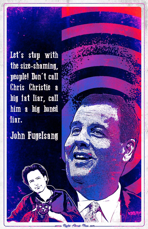 John Fugelsang and Chris Christie