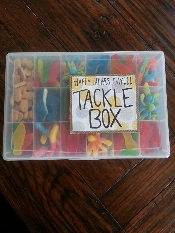 Fathers Day Gift Candy Tackle Box Fathers Day Baskets