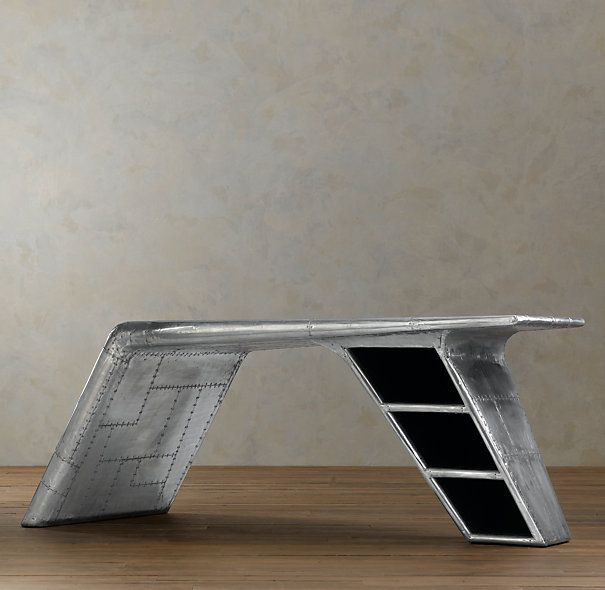Beau Explore Office Furniture Design And More! RHu0027s Aviator Wing Desk:Inspired  ...