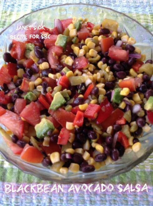 Bkack bean corn salsa