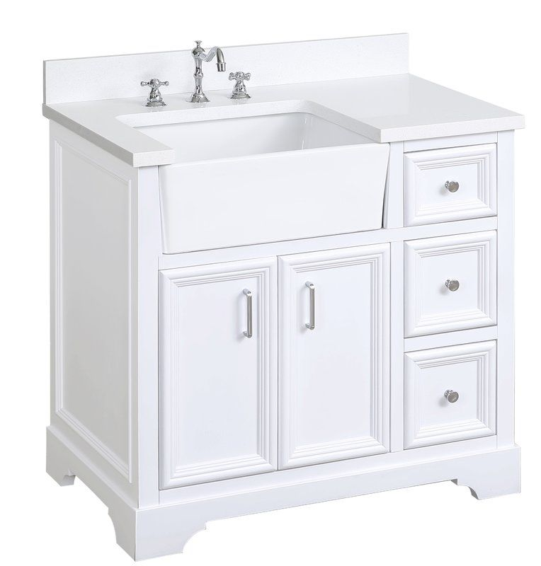 Montleban 36 Single Bathroom Vanity Set Single Bathroom Vanity Farmhouse Vanity Bathroom Vanity