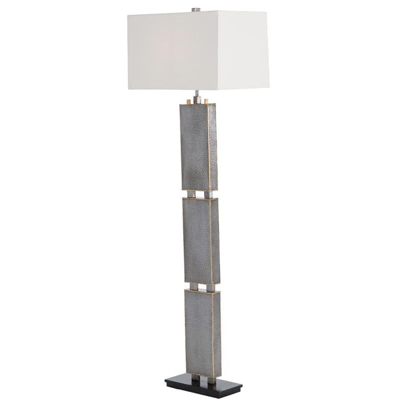 "Arteriors 72009-953.72009-971 Graham 1 Light 61"" Tall Floor Lamp with Socket Swi Natural Iron / White Lamps Floor Lamps"