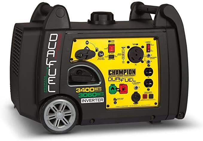 Amazon Com Champion 3400 Watt Dual Fuel Rv Ready Portable Inverter Generator With Ele In 2020 Best Portable Generator Portable Inverter Generator Dual Fuel Generator