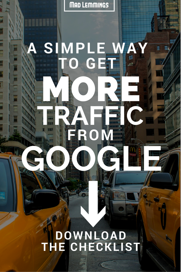 Learn how to get more traffic from Google with existing and new blog posts. Just 5 minutes extra work for each post with this super easy SEO checklist.