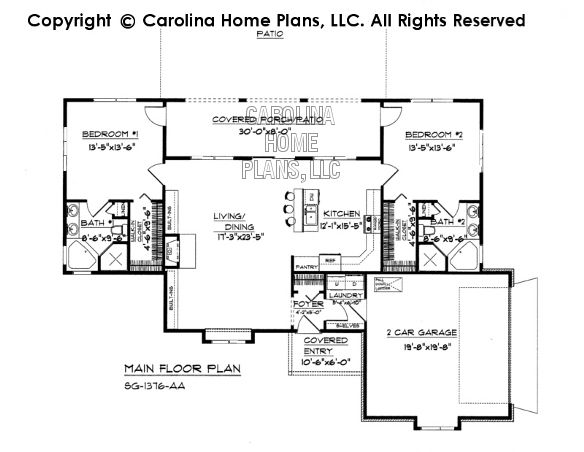 Affordable Small Home Plan Under 1400 Square Feet Small Home Plan Country Style House Plans House Plans
