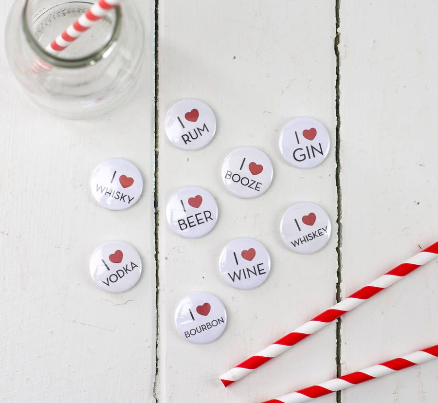 Booze Lover's Pin Badge Or Magnet