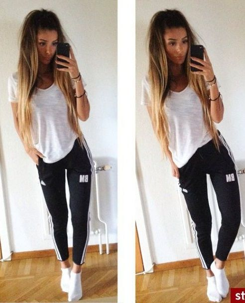 Cute lazycomfy day outfit☻ | Fashion, Adidas outfit, Pants