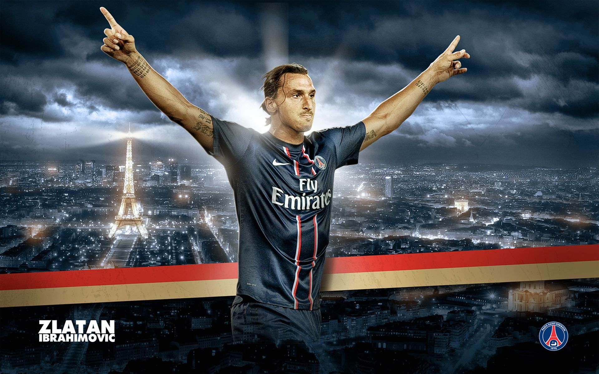 Zlatan Ibrahimovic PSG FC HD Wallpaper Free Download