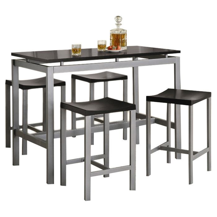 Wade Logan 5 Piece Pub Table Set & Reviews | Wayfair | Home ...