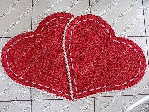 Cidinha Croche : Tapete Em Croche Coração-Parte 1/...