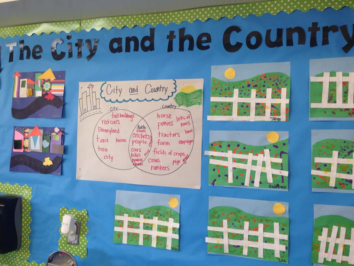 Image Result For Country And City Classroom Display