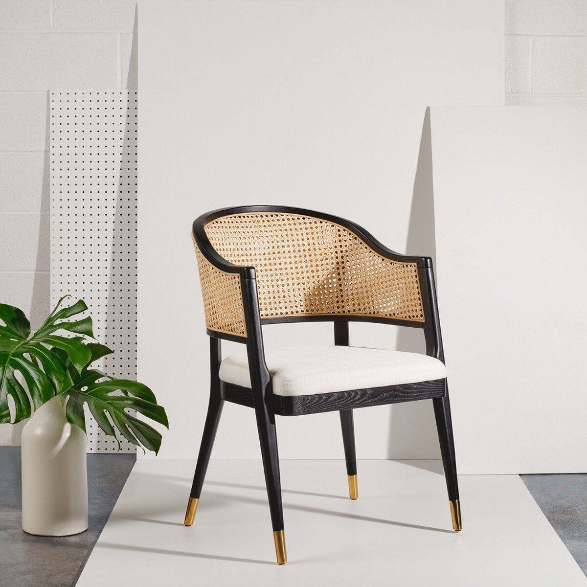 Rogue Rattan Dining Chair - Black