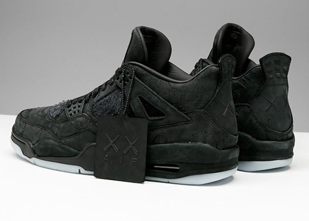 65914eac9f1375 Get Ready For The KAWS x Air Jordan 4 Black