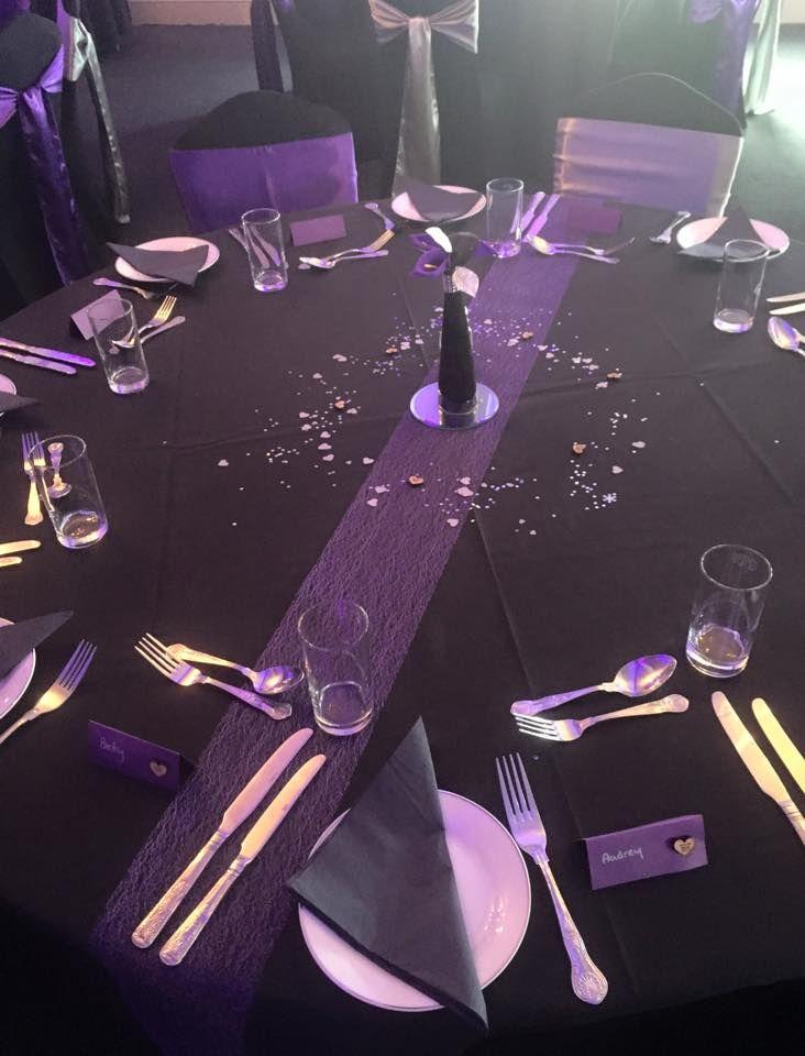 Black Tablecloths Alternative Wedding Reception Pinterest