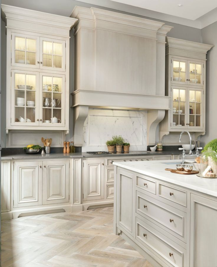 Wooden Kitchen Cabinets in White Painted | Hominic Kitchen ...