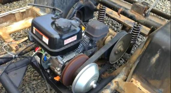 These guys replaced their blown golf cart motor with a cheap
