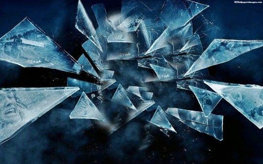 Blue Glass Shards Images Shattered Glass Smash Glass Art Wallpaper