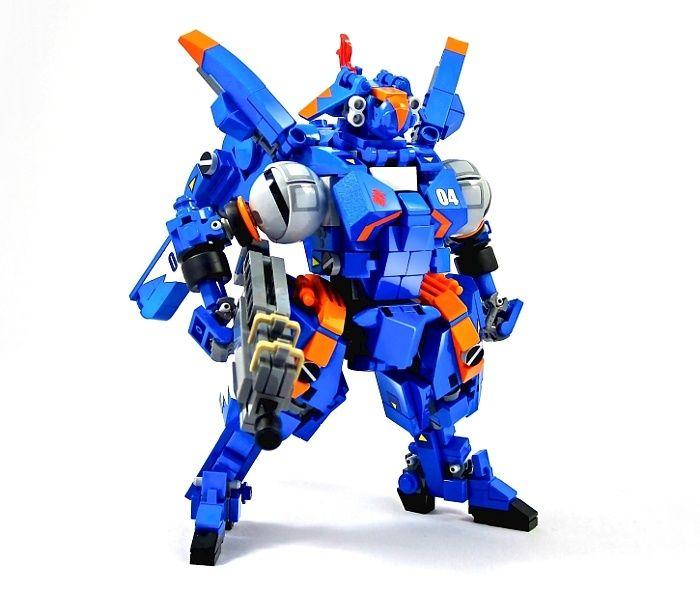 Blue and orange.