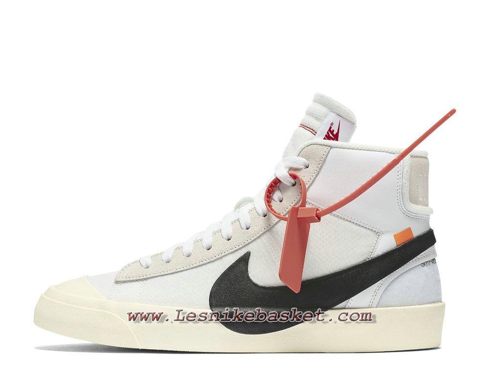 sale retailer fe73f 70bc5 Off White x Nike Blazer Mid 10X AA3832 100 Chaussures Nike Sportwear 2018  Pour Homme Blanc