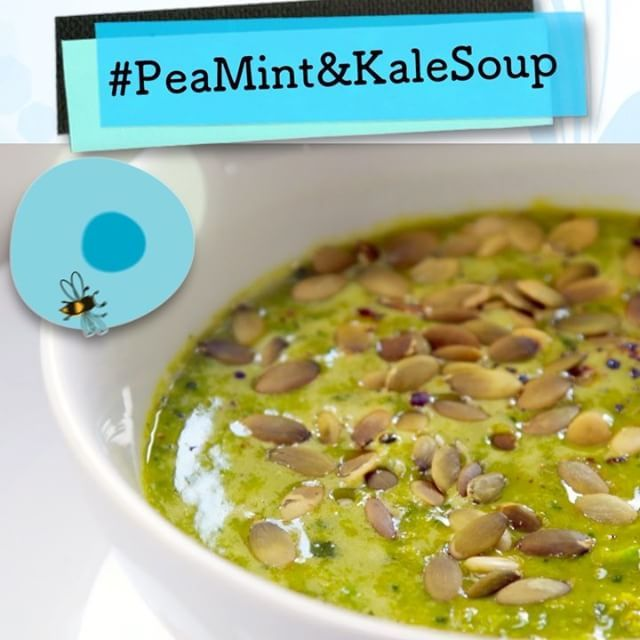 Meg's Soup of the Week this week is this vibrant Pea, Mint and Kale Soup – this is Meg's favorite soup at the moment because each bowl, not only tastes delicious, but is full of goodness! #soup #winterwarmer #autumn #healthylife #healthyliving #megsinstavideos #fitfood #cookingvideo