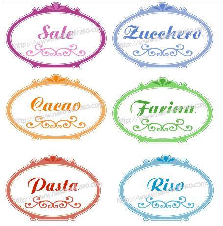 Etichette per barattoli dispensa immagini transfer pinterest dispensa barattoli e etichette - Barattoli pasta cucina ...