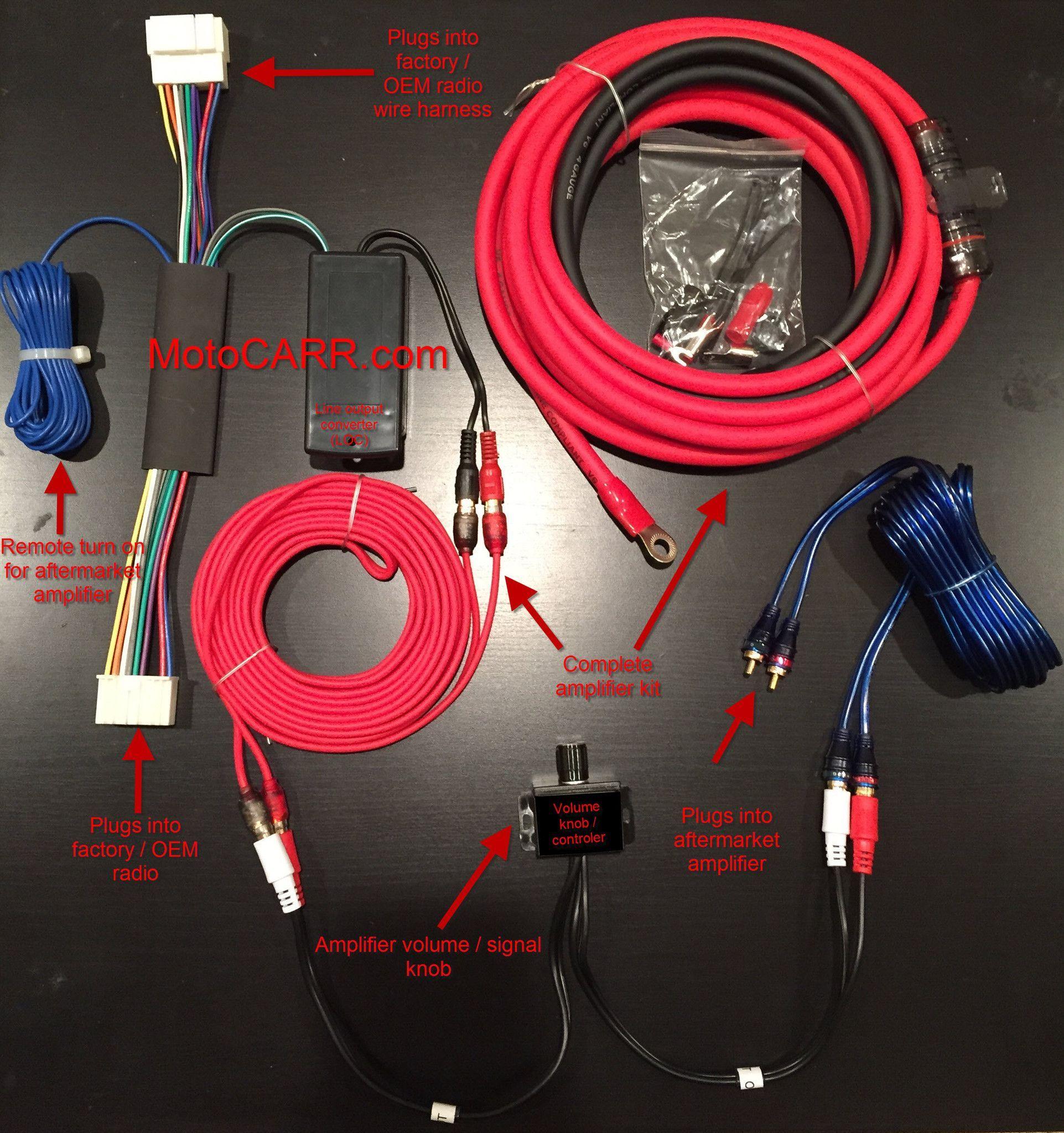 Honda Acura Factory Radio Add An Amplifier Interface Harness 1000 Wiring For Watt Kit Volume Knob