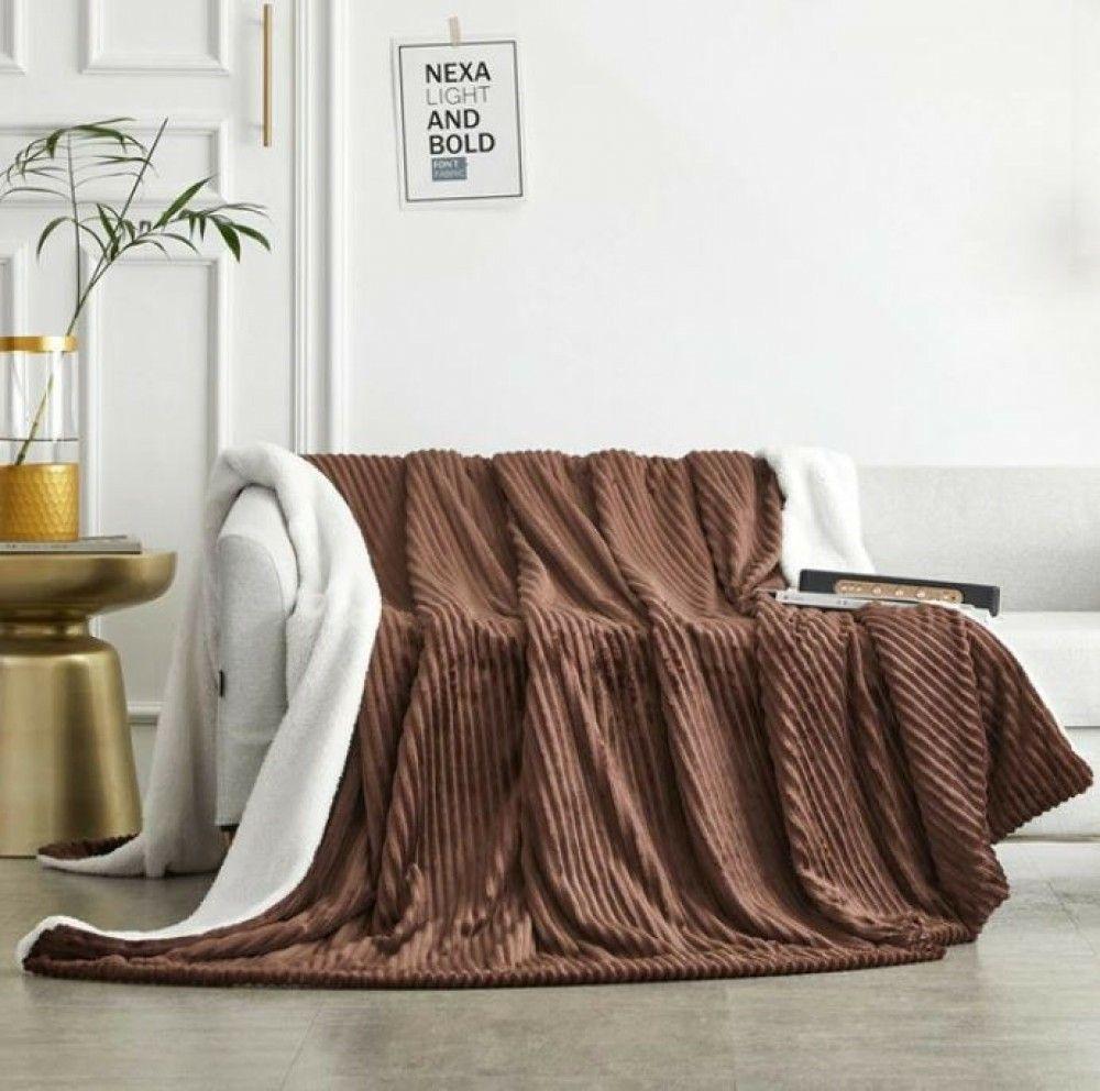 بطانية خفيفة مخمل وفرو مزدوج ريلاس Blanket Bed Spreads Velvet Blanket