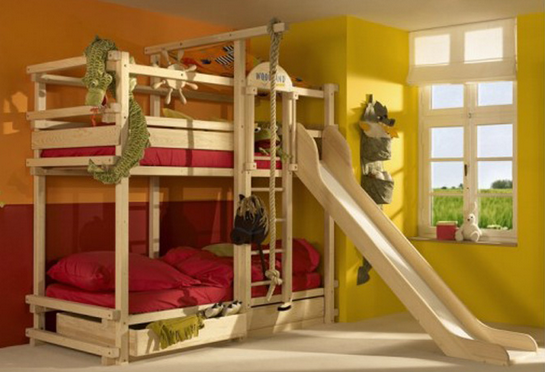 Jungle Gym Bed Google Search Bunk Bed With Slide Cool Bunk Beds Bunk Bed Designs