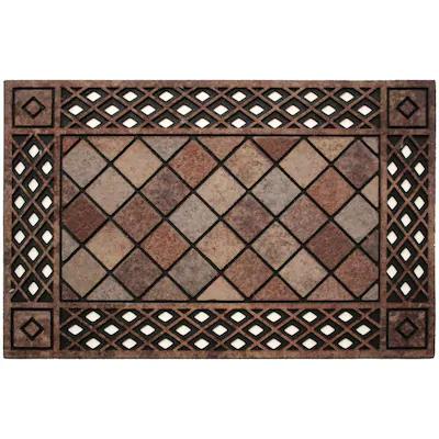 19 98 Style Selections Doormats Rectangular Door Mat Common 2 Ft X 3 Ft Actual 23 In X 35 In At Lowes Com In 2020 With Images Door Mat Area Rugs