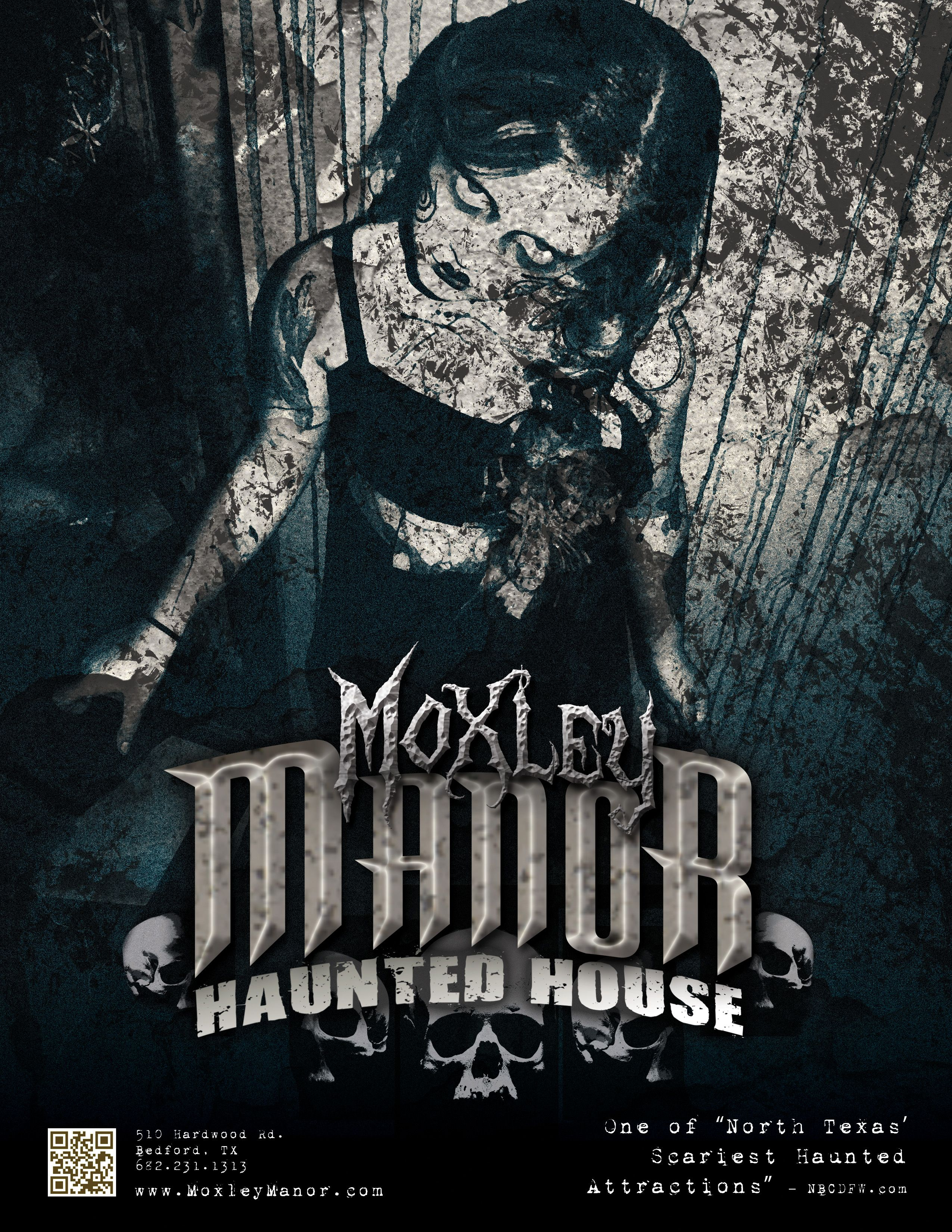 Poster for Moxley Manor Haunted House Haunted