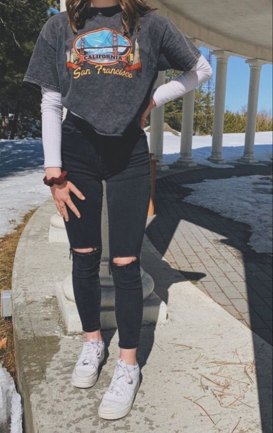 34 Cute Casual Outfits with White Sneakers | Spring Outfits Ideas Cute Casual Ou... - Welcome to Blog