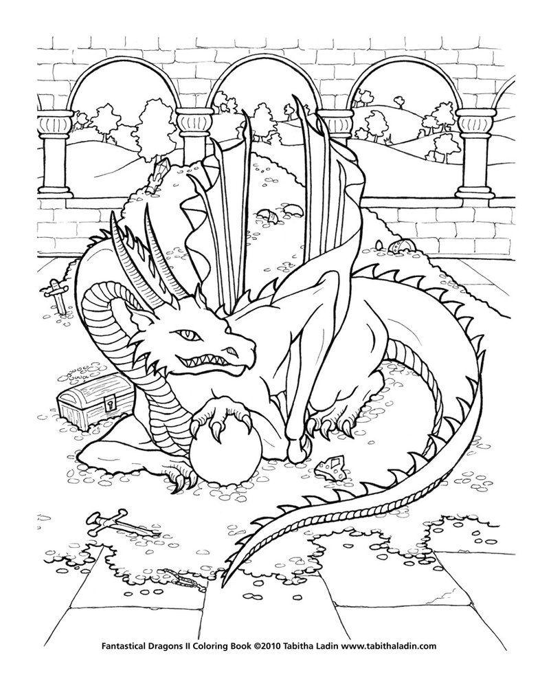 Treasure Dragon Coloring Page By Tablynn Deviantart Lustige Malvorlagen Ausmalbilder Drachen Ausmalbilder