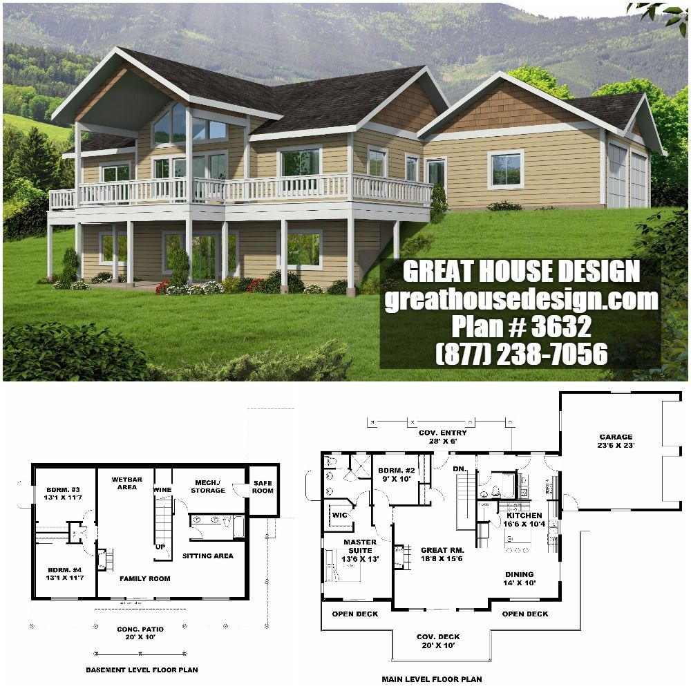 Home Plan 001 3632 Home Plan Great House Design House Plans Mountain House Plans Custom Home Designs