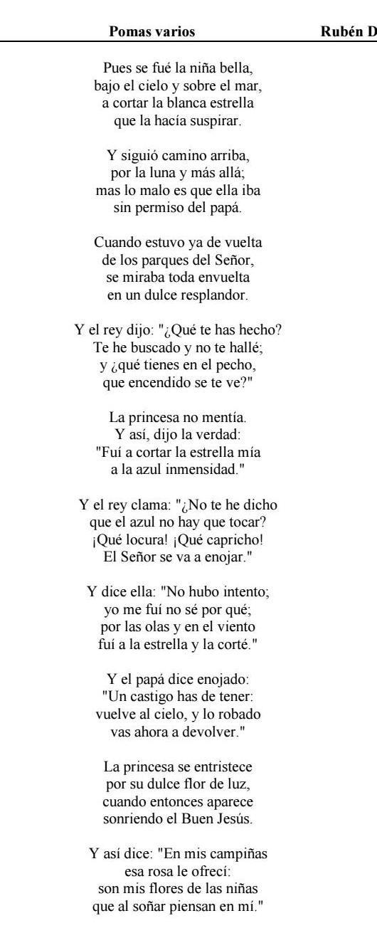 Dario Ruben Poemas Varios Quotes Poetry Facts