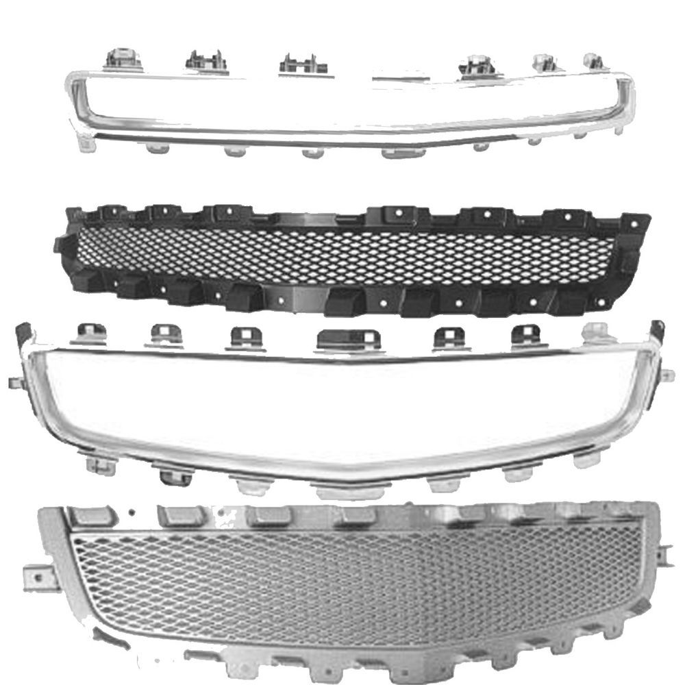 New For Chevrolet Malibu Front Grille Molding Grille 2008 12 Fits