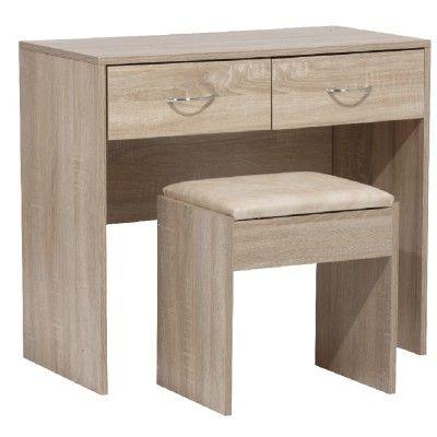 Console et assise couleur bois imitation chêne - Rangement - Mobilier   GiFi