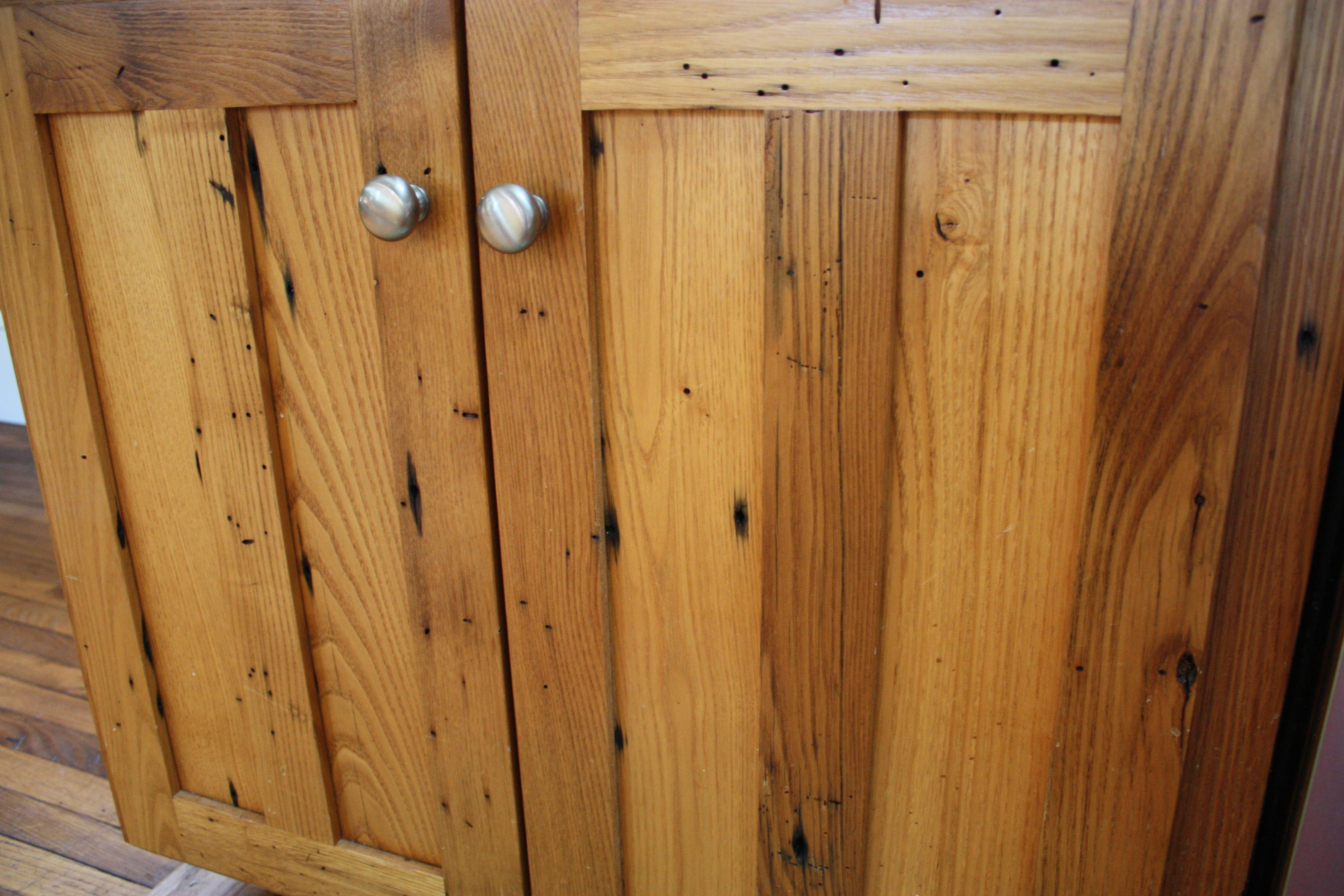 Reclaimed Chestnut Kitchen Cabinets Wormy