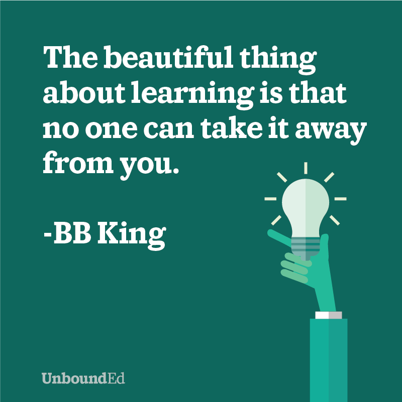 an inspirational education quote from bb king the beautiful