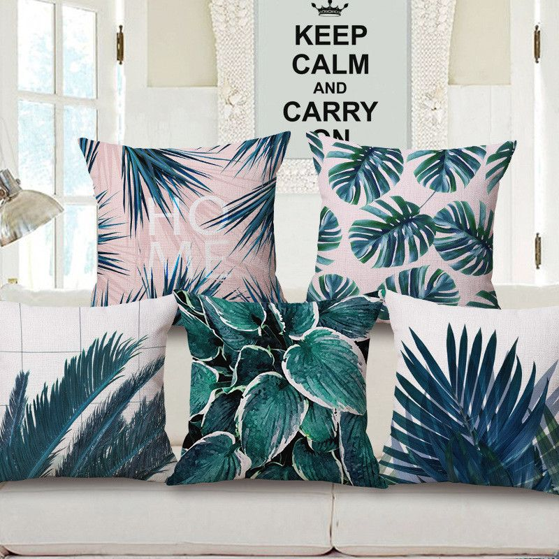 Tropical Hibiscus Indoor Outdoor Cushion Pillow Cover ~ 45cm x 45cm ~ New ~ MBC