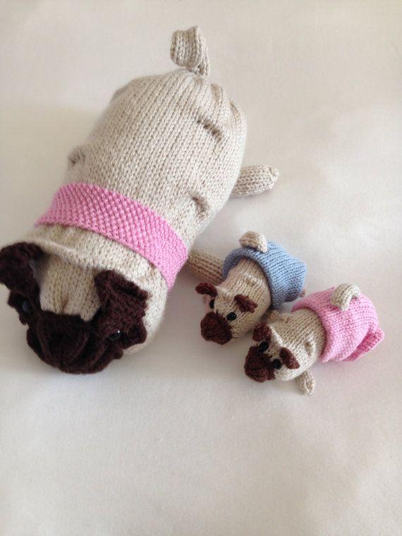 Pug Dog Knitting Pattern | Knitting patterns, Knitting ...