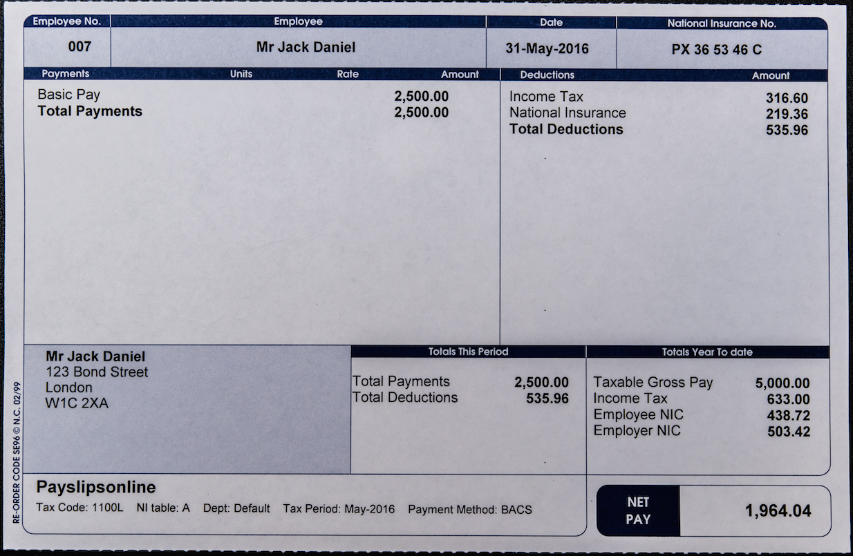 Buy High Quality Laser Printed Payslips Online We Have Wide Range Of Replacement P60 Prepared By Payr Employee Insurance National Insurance Number Unit Rate