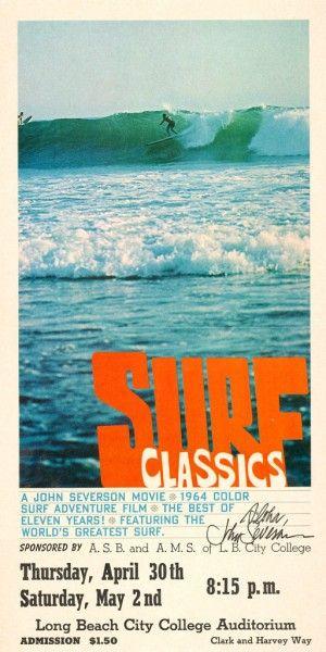 Surf Classics 1964 Surf Classics Surf Poster Surfing Vintage Surf